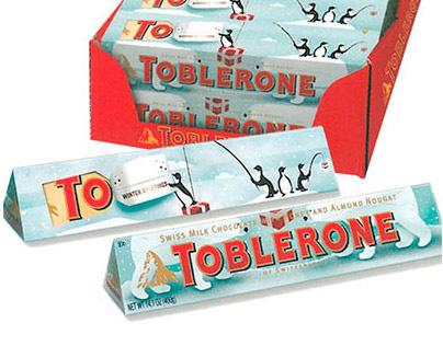 Toblerone Christmas illustration 2012-13