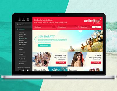 Unlimited Reisen – Web Design