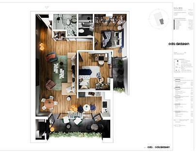 Floor # 3 Flat # 6