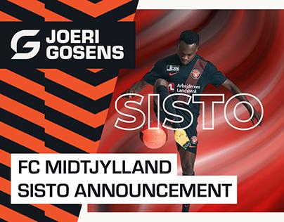 Pione Sisto announcement - FC Midtjylland
