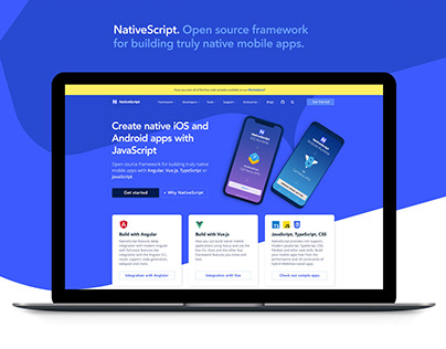 NativeScript Website Redesign