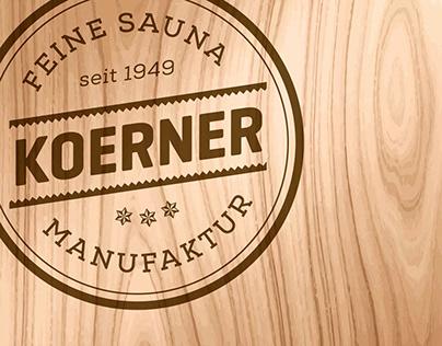 KOERNER Saunamanufaktur Rebranding