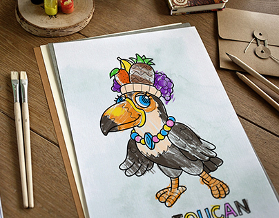 """Collection of children's characters """"Cute birds"""""""