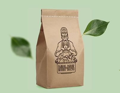 Брендинг для доставки фермерских продуктов «Ваня-Внук»