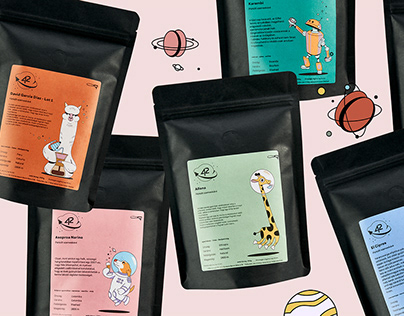 42 coffee - packaging illustration