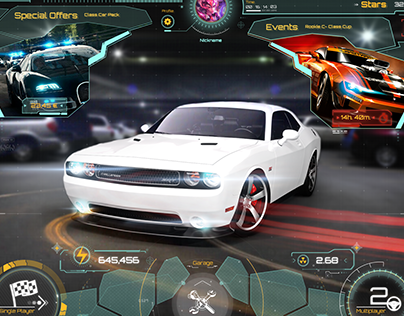 Gameloft Game Project UI/UX Design