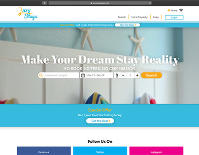 Lazy Stays Website