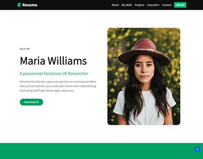 Resume, Portfolio WordPress website, Job Website