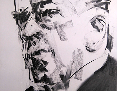 charcoal on paper 70 x 50 cm