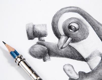 El pingüino que quería colar