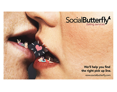 Social Butterfly Dating Service with unconventional sca