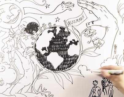 'Velkommen til Verden' - handdrawn musicvideo