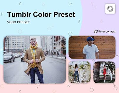 Tumblr - VSCO Preset - Filteresco app