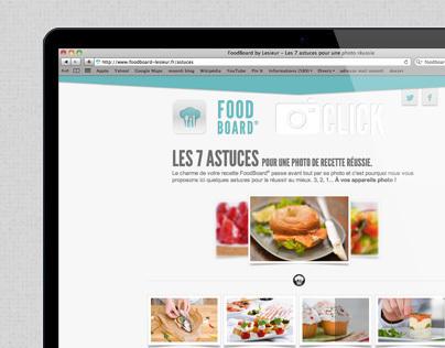 FoodBoard Lesieur - WebSite