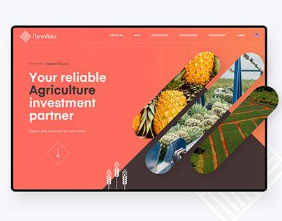 Farmfolio - Responsive Website Design
