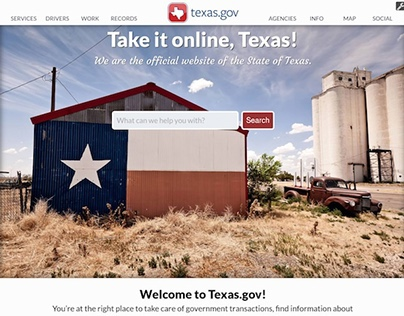 Texas Official Website Development