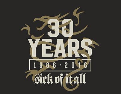 SICK OF IT ALL 30 Year Anniversary Logo + Branding