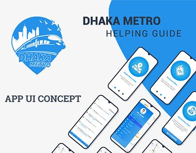 Dhaka Metro Helping Guide _ UI Design Concept