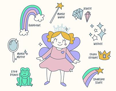 Princess Fashion design for Girls