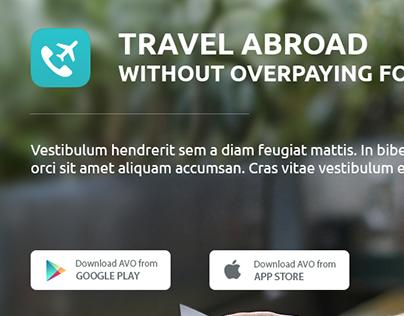 Cheap roaming app landing page