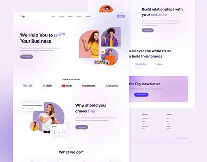 Digi Marketing Landing Page
