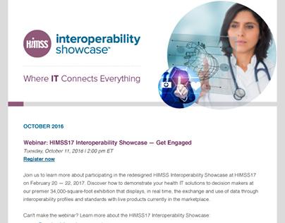 HIMSS Interoperability Showcase Email Newsletter