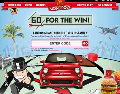 McDonald's - 2012 Online Monopoly Game
