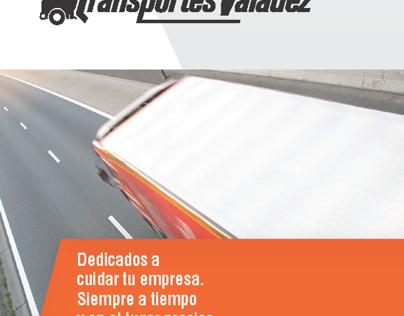 Transportes Valadez - Logotipo y Brochure digital