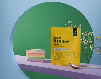 爱乐甜/零卡自在生活/美食代糖系列产品摄影