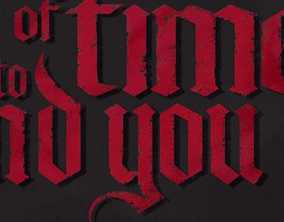 Dracula type poster