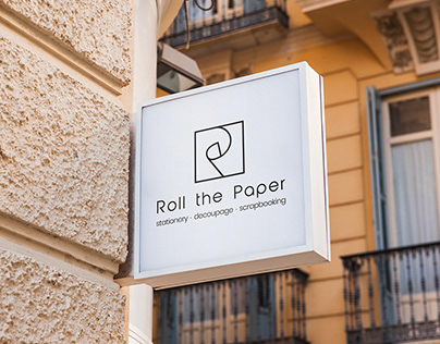 Roll the Paper | Logo design