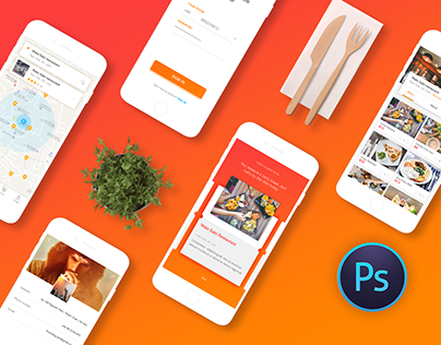 COOK | Application Project - 20 Screens Free Download