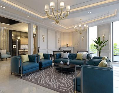 Classic Modern Living Room & Kitchen | Duhok