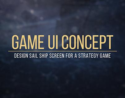 Ship design Concept UI