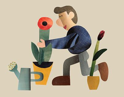 Personal work: Garden collages