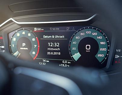 "AUDI Virtual Cockpit 10"" & Virtual Side Mirrors"