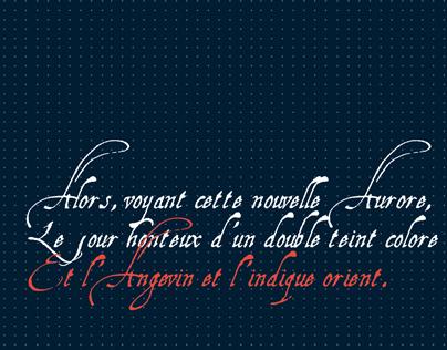 Dépliant - design typographique