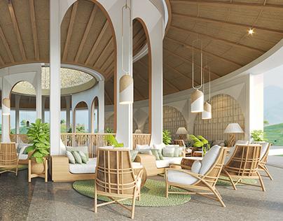 lobby farm resort