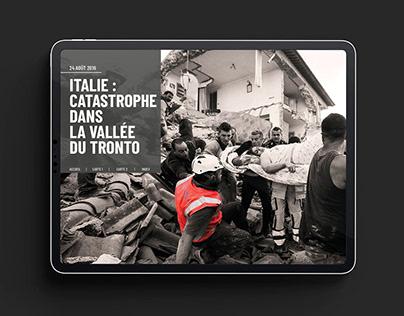 Séisme de 2016 en Italie : Document interactif