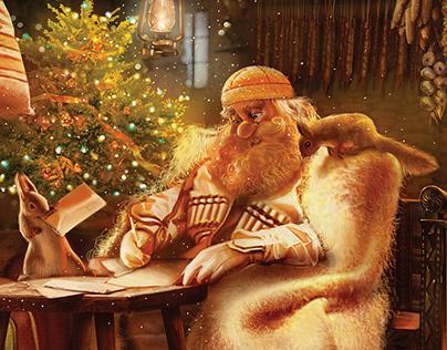 Santa Claus Post