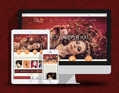 Beauty Salon & Spa Website Template Design