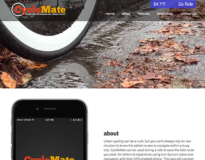 CycleMate Landing Page