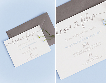 baby blue // letterpress wedding invitation