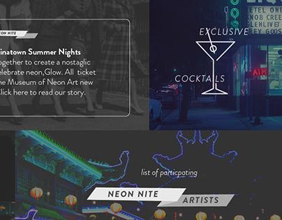 Glow Neon Nite :: Web Design