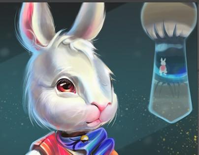 "Concept character art ""White Rabbit"""