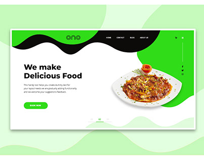 Food Landing Page Header