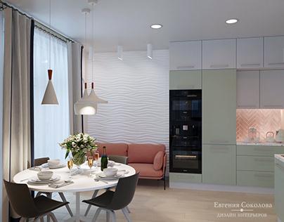 Dining room pastel tones