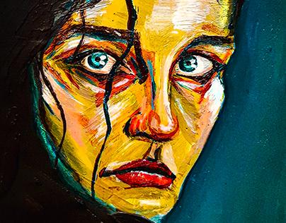 ",,Linda"" Acrylic Painting"