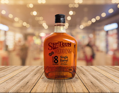 Shotgun Wedding Whiskey Branding