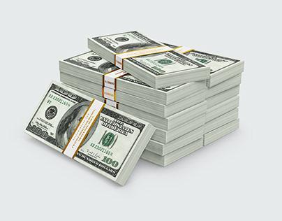 8 Money Stacks Mockups